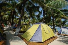 Tent at beach Royalty Free Stock Photos