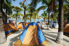 Tent at beach Royalty Free Stock Photo