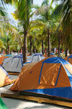 Tent at beach Stock Image
