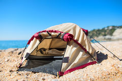 Tent at the beach Stock Images