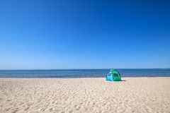 Tent on the Beach. Tent on the Beach by Lake Ontario Stock Image