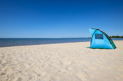 Tent on the Beach. Tent on the Beach by Lake Ontario Royalty Free Stock Photography
