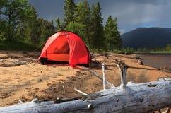 Tent @ beach Stock Photos