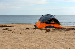 Tent on beach Stock Photography