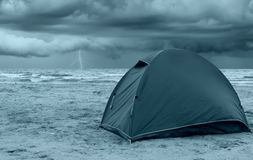 Tent on the beach Stock Photos