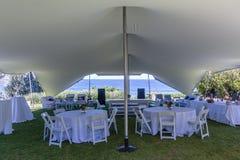 Tent Bedouin Chairs Wedding Ocean Venue. Tent Bedouin Chairs Wedding Venue Beach Ocean Horizon stock image