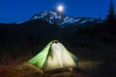 Tent in bergen Royalty-vrije Stock Afbeelding