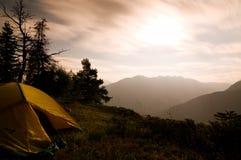 Tent bij nacht Stock Fotografie