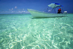 Tent   the  blue lagoon relax and boat    sian kaan in mexico Stock Photography
