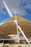 The tent building. Architecture innovation  with new forms and geometry Royalty Free Stock Photography