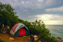 Free Tent By The Sea. Stock Photo - 106039950