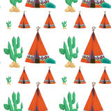 Tent and cactus Royalty Free Stock Images