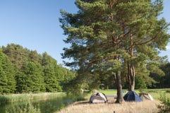 Tent camp Stock Photo