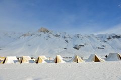 Tent Camp in Ladakh, India Stock Photo