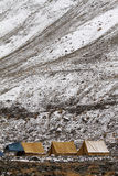 Tent camp in Rumbak Valley in Ladakh Royalty Free Stock Photography