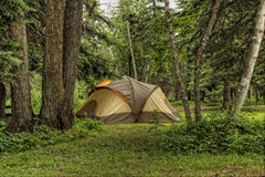 Tent in Camp Site Stock Photography