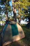 Tent camp. South Luangwa National Park. Zambia Stock Photos