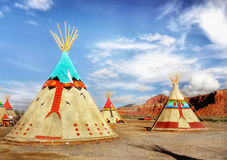 Indian Tents stock image