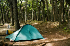 Tent in Campament in Torres del Paine Royalty Free Stock Images