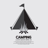 Tent And Campfire For Camping Stock Images