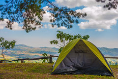 Tent camping. At national part royalty free stock images
