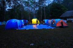 Tent camping stock photos
