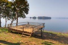 Tent camping area at pompee Khao Leaem National Park, Kanchanaburi. Thailand royalty free stock images