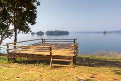 Tent camping area at pompee Khao Leaem National Park, Kanchanaburi. Thailand royalty free stock photos