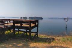 Tent camping area at pompee Khao Leaem National Park, Kanchanaburi. Thailand royalty free stock photo