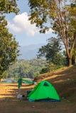 Tent camping area at pompee Khao Leaem National Park, Kanchanaburi. Thailand royalty free stock photography