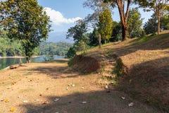 Tent camping area at pompee Khao Leaem National Park, Kanchanaburi. Thailand royalty free stock image