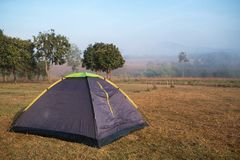 Tourism camping tent in public park. Tent in camping area in Thung Salaeng Luang national park Stock Photography
