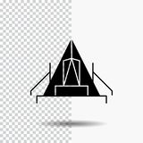 Tent, camping, camp, campsite, outdoor Glyph Icon on Transparent Background. Black Icon. Vector EPS10 Abstract Template background royalty free illustration