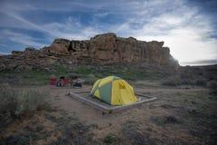 Tent Camping, Chaco Canyon National Park Royalty Free Stock Photos