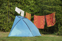 Tent at a camping Royalty Free Stock Photography