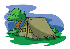 Tent camping. Illustrator design .eps 10 Vector Illustration