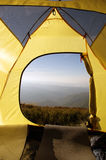 Tent camping in mount Royalty Free Stock Photos