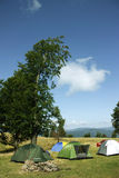Tent camping in nature Stock Photography