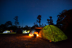 Tent camping Royalty Free Stock Images