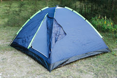 Tent for camping. In the outdoors Stock Photo