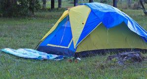 Tent Camping. At  Phu Kradueng National Park,Thailand Stock Photo