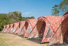 Tent camping at Phu samerdown park Stock Photo