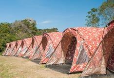 Tent camping at Phu samerdown park Stock Photo