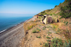 Tent camping is by the sea Stock Images