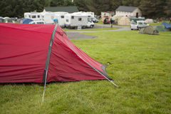 Tent in a camping site Royalty Free Stock Photo