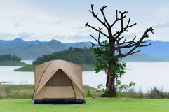 The tent on Camping site Stock Photography