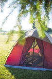 Tent on a camping site Stock Images