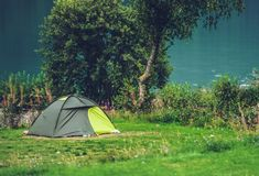 Tent Camping in the Wild stock photos