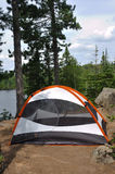 Tent at Campsite in the Wilderness Royalty Free Stock Image