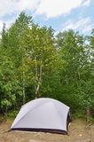 Tent at Campsite in the Wilderness Royalty Free Stock Images